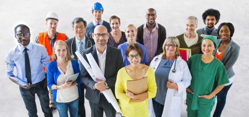 Diverse Multiethnic Business People from Different Industries